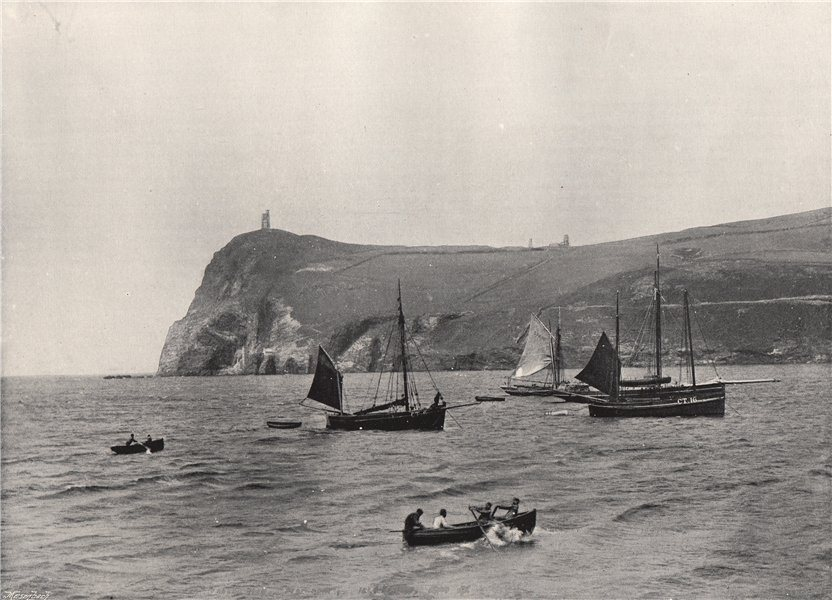 Associate Product PORT ERIN. Bradda Head, with the Milner Tower. Isle of Man 1895 old print