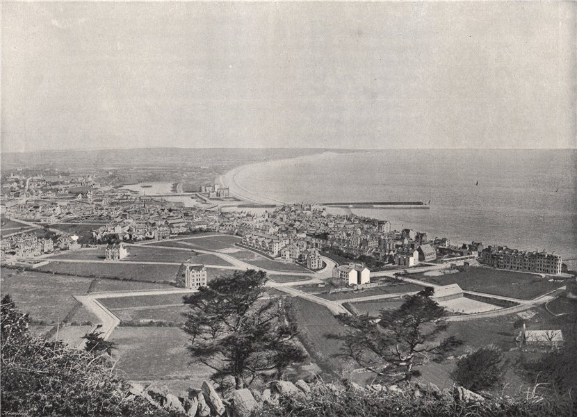 Associate Product RAMSEY. From the Albert Tower. Isle of Man 1895 old antique print picture