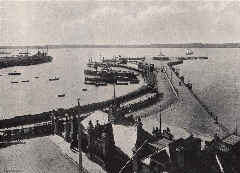 Associate Product SOUTHAMPTON. The pier. Hampshire 1895 old antique vintage print picture