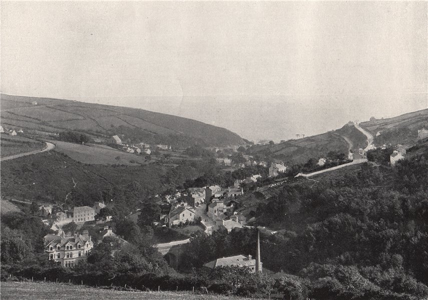 LAXEY. General view. Isle of Man 1895 old antique vintage print picture