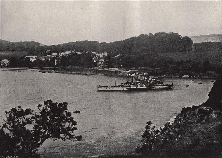 "Associate Product ABERDOUR. The ""Tantallon Castle"" leaving the pier. Scotland 1895 old print"