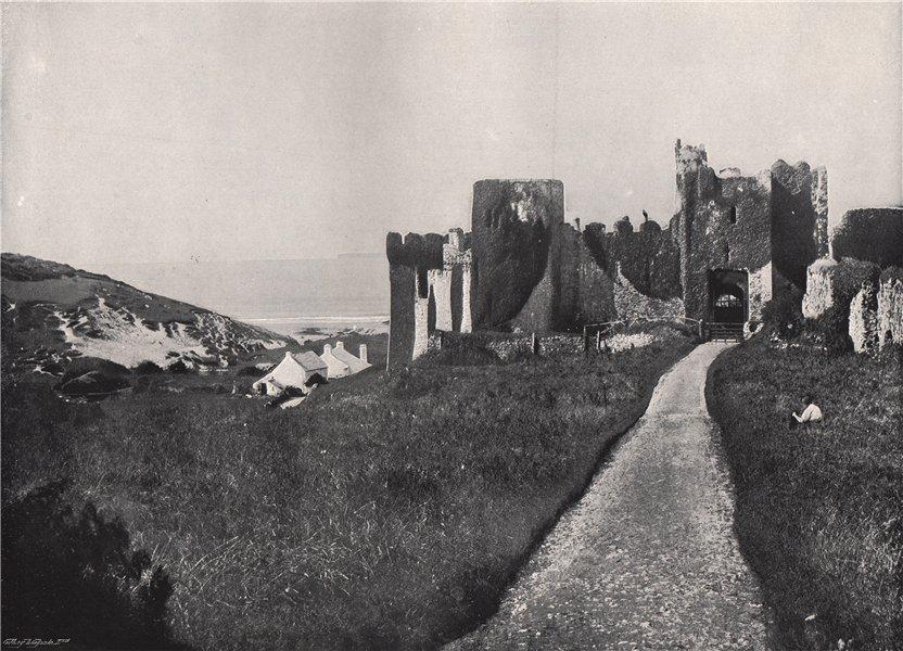 Associate Product MANORBIER. The castle. Wales 1895 old antique vintage print picture
