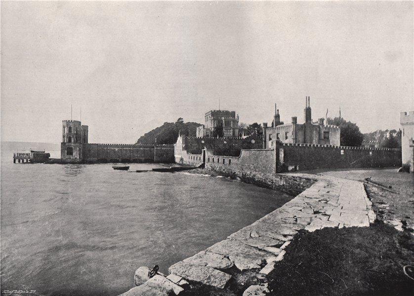 Associate Product BRANKSEA (BROWNSEA) ISLAND. General view of the castle. Dorset 1895 old print