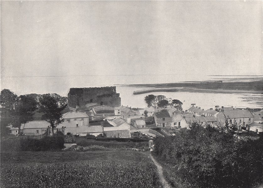 Associate Product CARLINGFORD. Showing the ruins of Carlingford Castle. Leinster 1895 old print