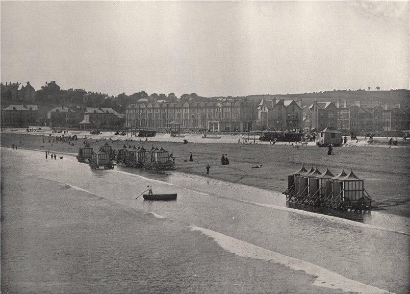 Associate Product PAIGNTON. The sands, from the pier. Devon 1895 old antique print picture