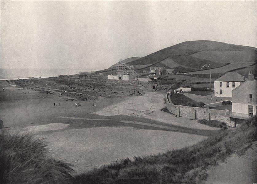 Associate Product BARNSTAPLE. Croyde Bay. Devon 1895 old antique vintage print picture