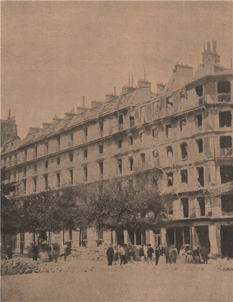 Associate Product PARIS COMMUNE 1871 Barricade de l'Avenue Victoria apres armée Versailles c1873
