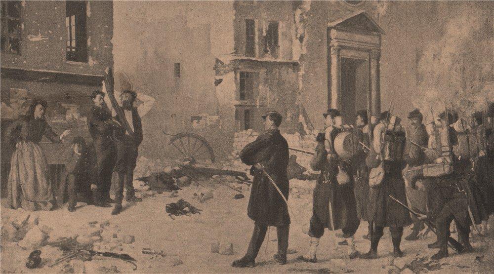 Associate Product PARIS COMMUNE 1871. Quand vous-voudrez! (Tableau de Jules Riou, 1871) c1873