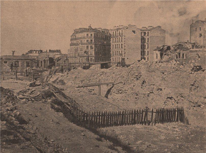 Associate Product PARIS COMMUNE 1871. Porte Maillot après le bombardement du Mont Valérien c1873