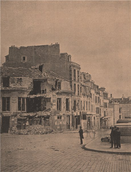 Associate Product PARIS COMMUNE 1871. Tète du Pont de Courbevoie (12 Avril). Hauts-de-Seine c1873