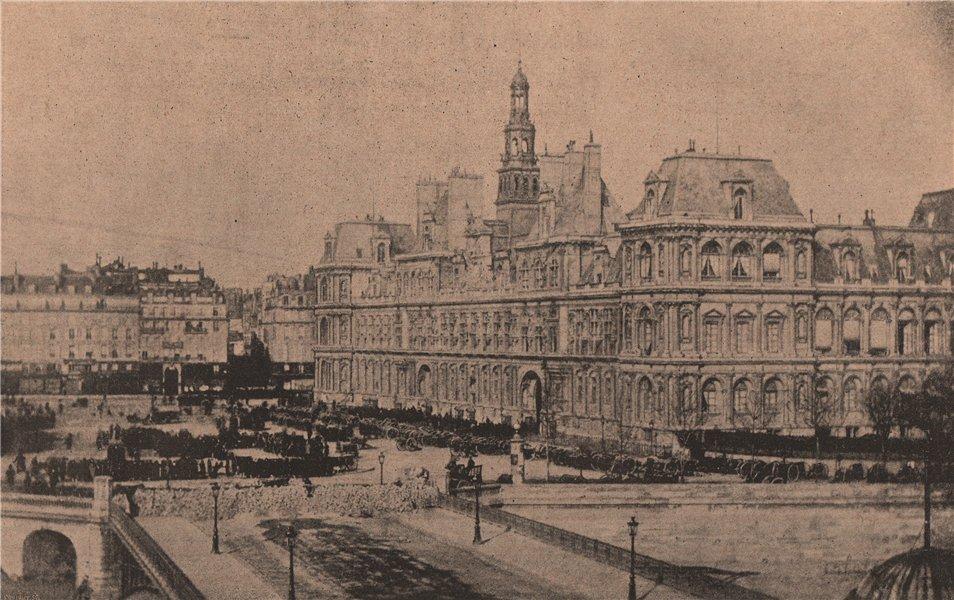 Associate Product PARIS COMMUNE 1871. Parc d'Artillerie de l'Hotel de Ville (16 Mai 1871) c1873