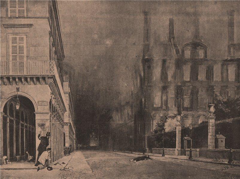 Associate Product PARIS COMMUNE 1871. Rue de Rivoli, matinée du 24 Mai. Léon y Escosura c1873