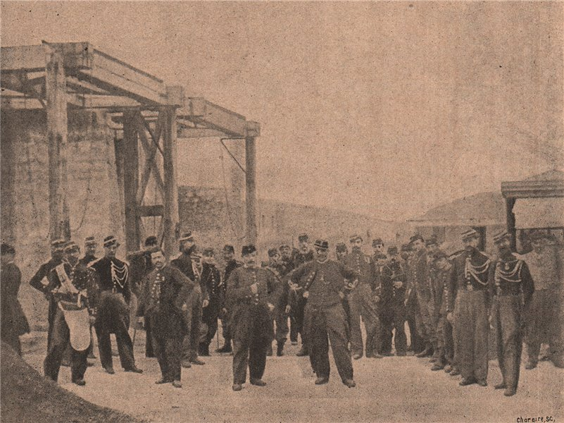 Associate Product PARIS COMMUNE 1871. La Prévoté à la Porte d'Italie (29 Mai 1871) c1873 print