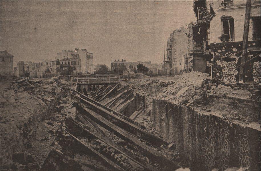 Associate Product PARIS COMMUNE 1871. Effondrement du Tunnel de la Porte Maillot c1873 old print
