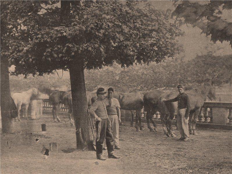 Associate Product PARIS COMMUNE 1871. Camp de Cavalerie du Luxembourg c1873 old antique print