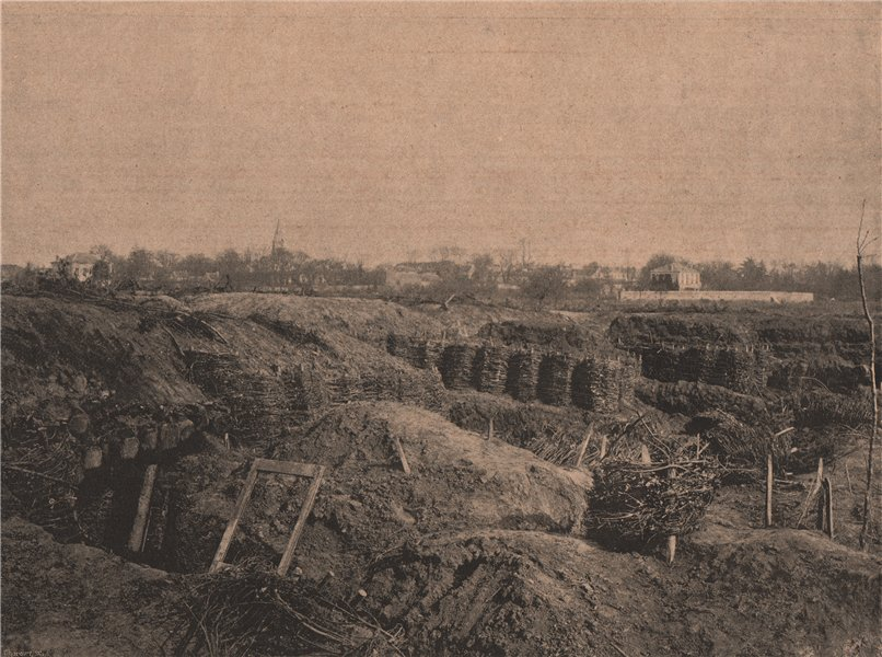 Associate Product PARIS COMMUNE 1871. Redoute de la Route des Moulineaux c1873 old antique print