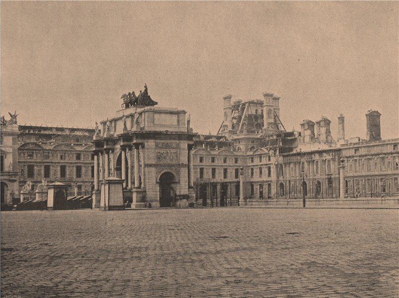 Associate Product PARIS COMMUNE 1871. La Place du Carrousel c1873 old antique print picture