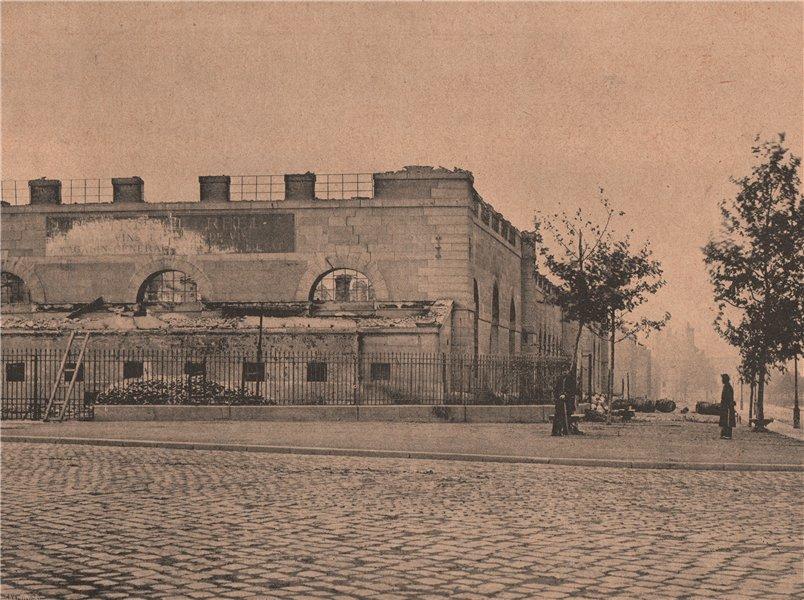 Associate Product PARIS COMMUNE 1871. Le Grenier d'Abondance après l'armée de Versailles c1873