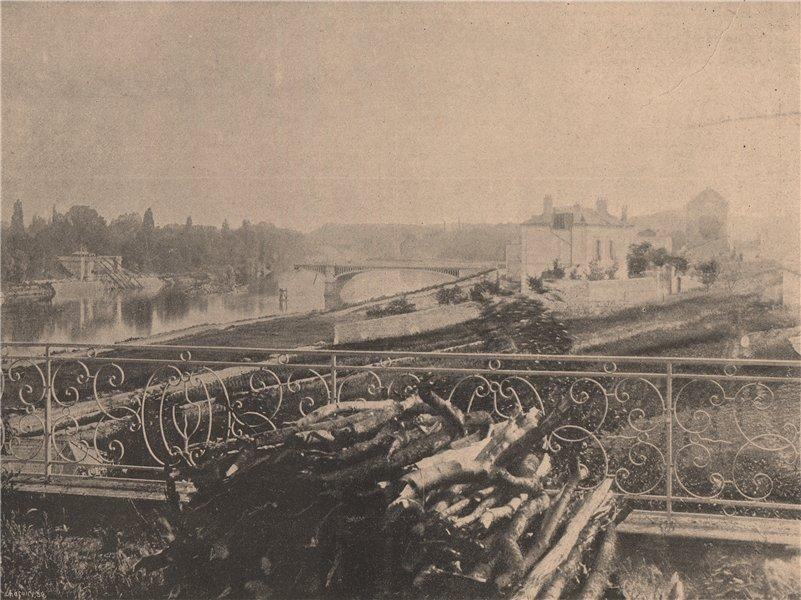 Associate Product PARIS COMMUNE 1871. Pont de Billancourt c1873 old antique print picture