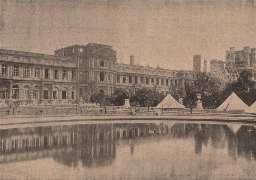 Associate Product PARIS COMMUNE 1871. Les Tuileries (vue prise du Jardin) c1873 old print