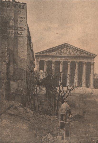 Associate Product PARIS COMMUNE 1871. La Rue Royale (coin du faubourg saint-Honorè) c1873 print