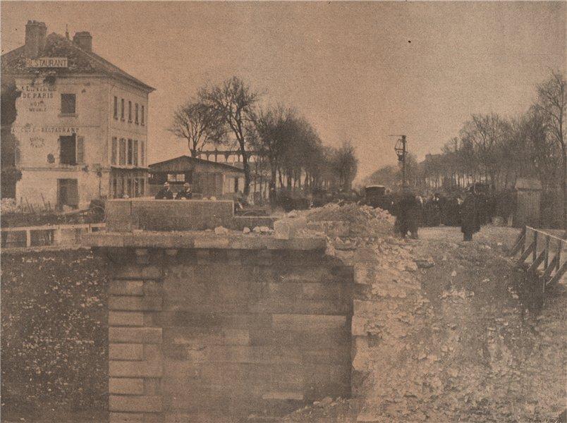 Associate Product PARIS COMMUNE 1871. Le Pont de Courbevoie. Hauts-de-Seine c1873 old print