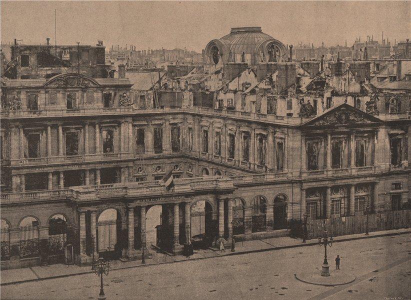 Associate Product PARIS COMMUNE 1871. Palais-Royal (vue extérieure) c1873 old antique print
