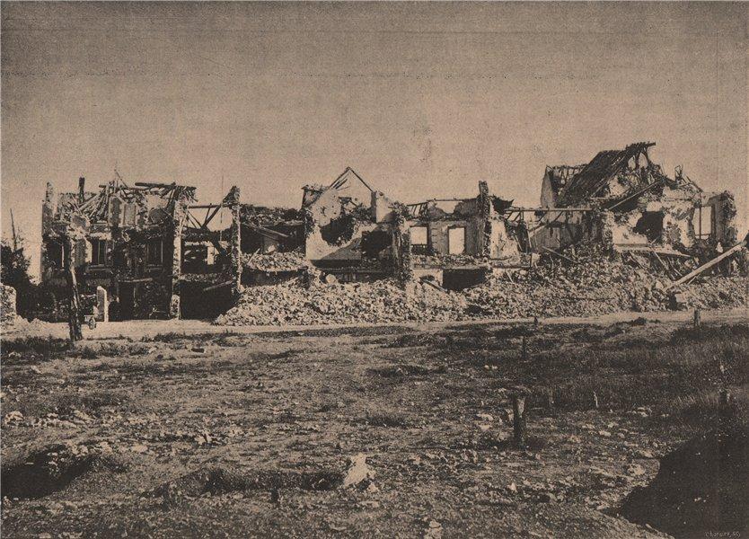 Associate Product PARIS COMMUNE 1871. Plateau de Chatillon (Maisons bombardées) c1873 old print