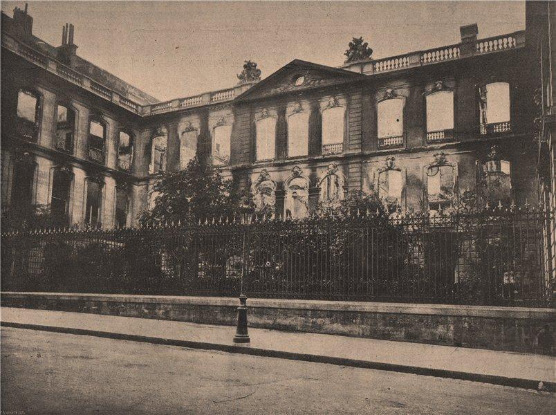 Associate Product PARIS COMMUNE 1871. Hotel de la Caisse des Dépots et Consignations c1873 print
