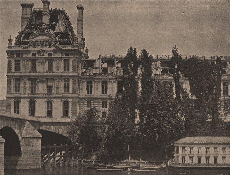 Associate Product PARIS COMMUNE 1871. Le Pavillon de Flore c1873 old antique print picture