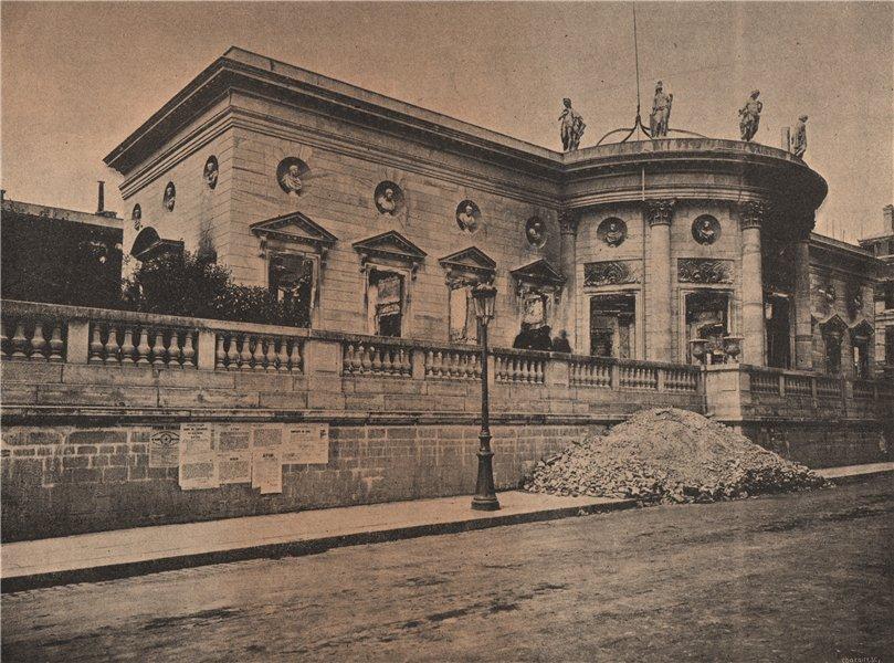 Associate Product PARIS COMMUNE 1871. L'hotel de la Légion d'Honneur c1873 old antique print