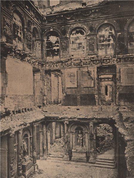 Associate Product PARIS COMMUNE 1871. Les Tuileries (Intérieur) c1873 old antique print picture