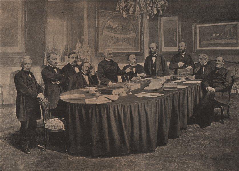 Associate Product PARIS COMMUNE 1871. Conseil des Ministres, Hotel de la Prèsidence. Thiers c1873