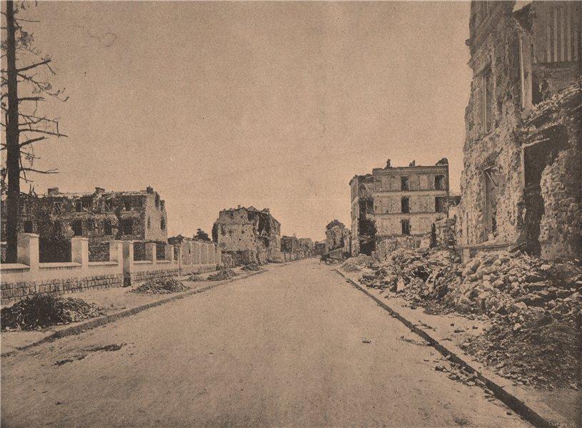 Associate Product PARIS COMMUNE 1871. Neuilly mutilé.- La Rue Perronnet. Hauts-de-Seine c1873