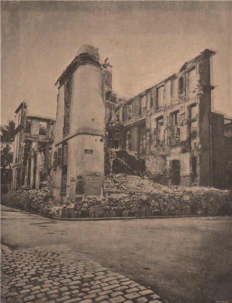 PARIS COMMUNE 1871. Les Rues de Lille et de Poitiers c1873 old antique print