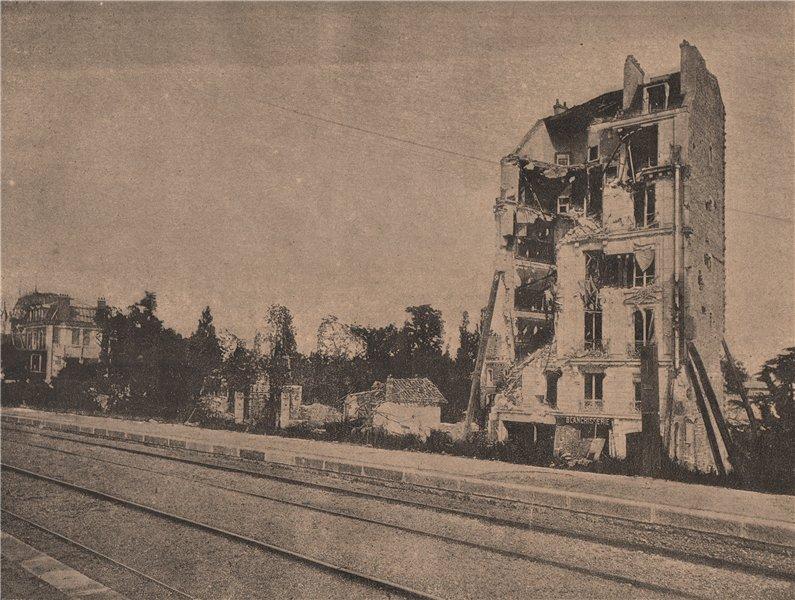 Associate Product PARIS COMMUNE 1871. Auteuil.- Villa Montmorency c1873 old antique print