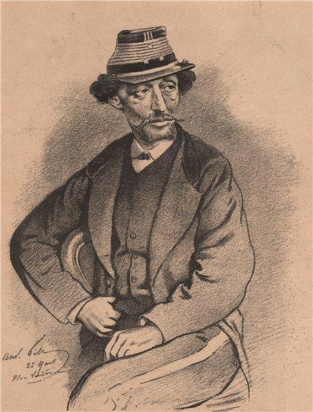 Associate Product PARIS COMMUNE 1871. Le Général Bergeret c1873 old antique print picture