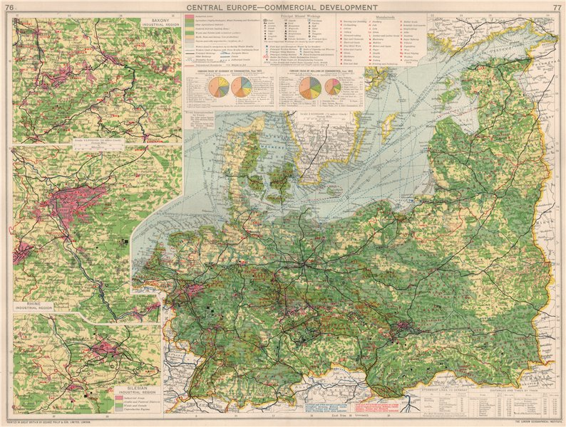 Associate Product Germany/Central Europe. Commercial Development. Manufacturing & Mining 1925 map