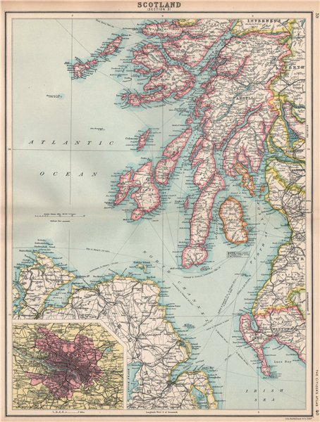 Islay Scotland Map.Scotland Sw Argyll Ayrshire Wigtownshire Mull Arran Jura Islay