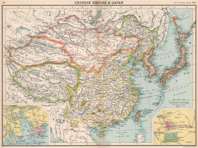 Associate Product EAST ASIA China Chinese Turkistan Tibet Korea Japan. Hong Kong Peking 1912 map