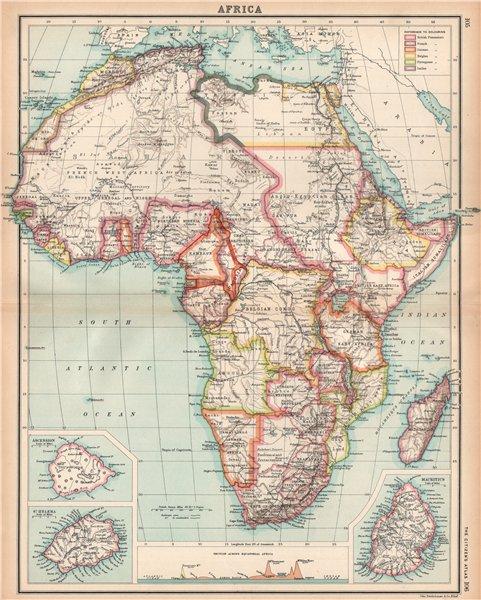 Associate Product AFRICA shows 1911 Neukamerun border changes. Equatorial cross section 1912 map