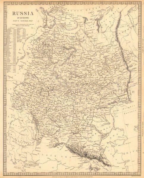 Associate Product RUSSIA. Eastern Europe. Ukraine Belarus Baltics Finland Georgia. SDUK 1848 map