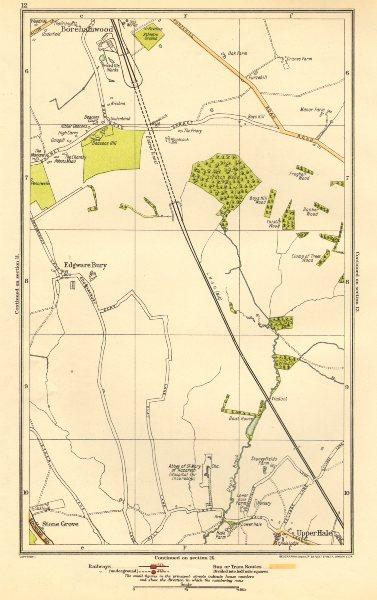 Associate Product LONDON. Edgware Bury, New Edgware, Stone Grove, Upper Hale 1923 old map
