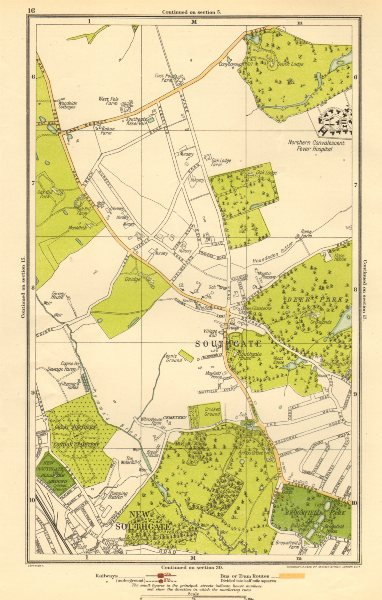 Associate Product LONDON. Southgate, New Southgate, Arnos Grove, West Enfield 1923 old map