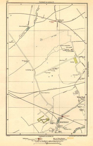 Associate Product NORTHOLT. South Ruislip,Harrow,Rayner's Lane,Wood End,Northolt Park 1923 map