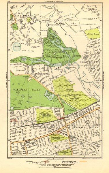 Associate Product LONDON. Aldersbrook,Manor Park,Stoke Newington,Beehive,Newbury Park 1923 map