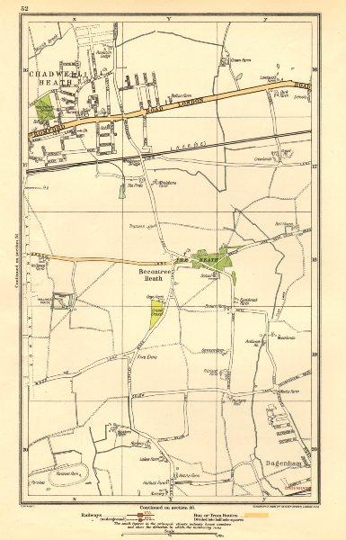 Associate Product ROMFORD. Chadwell Heath, Becontree, Dagenham, Valence Park 1923 old map