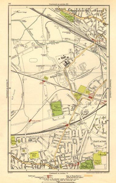 Associate Product ACTON. Park Royal, Stonebridge Park, Harlesden, Old Oak Lane 1923 map