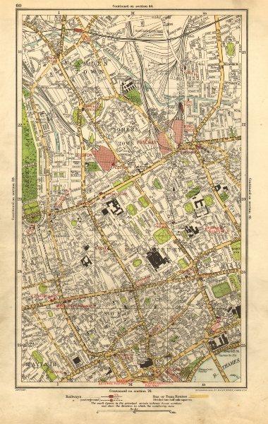Associate Product WEST END. Marylebone,Camden,Mayfair,Soho,Bloomsburym,Covent Garden 1923 map