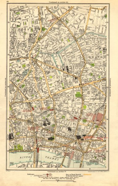 Associate Product LONDON. Barnsbury, Clerkenwell, Hoxton, Islington, Old Street, Angel 1923 map
